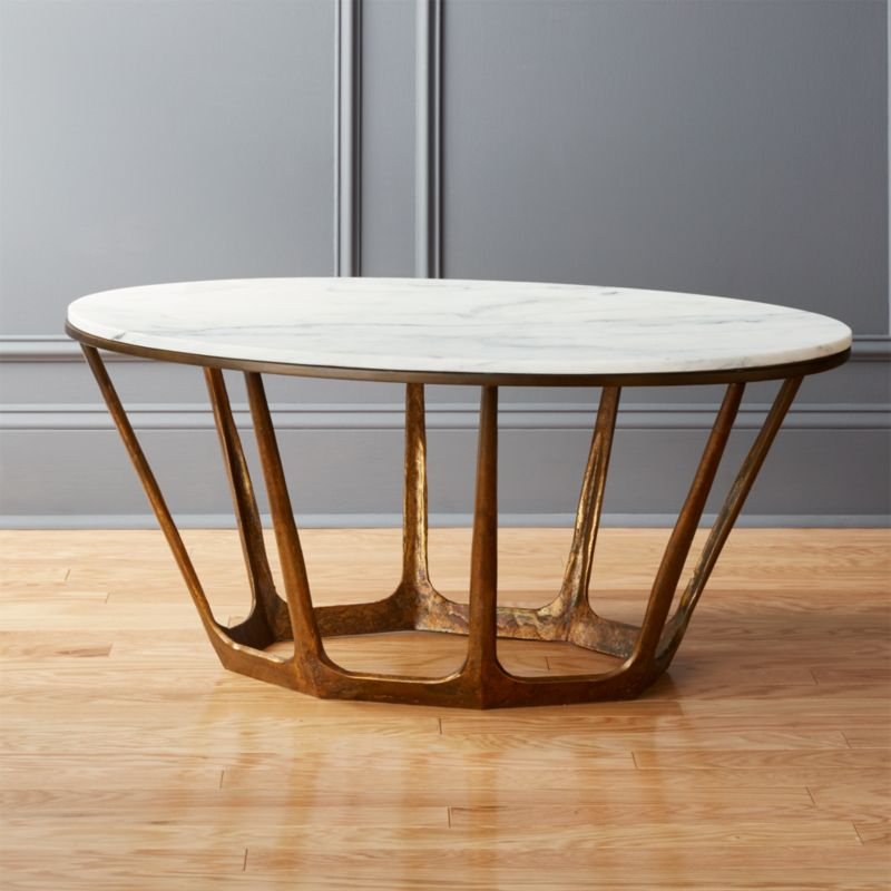 coffee table totem round kara road products marble tables