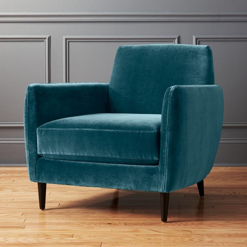 Beau Parlour Cyan Blue Chair