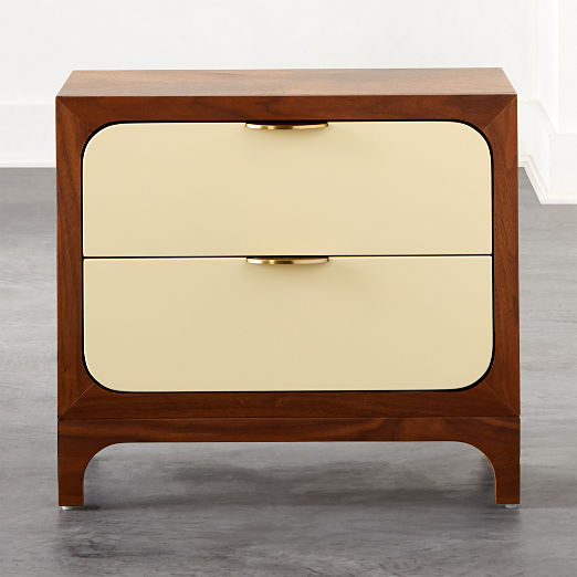 Paterson Lacquered Ivory Nightstand
