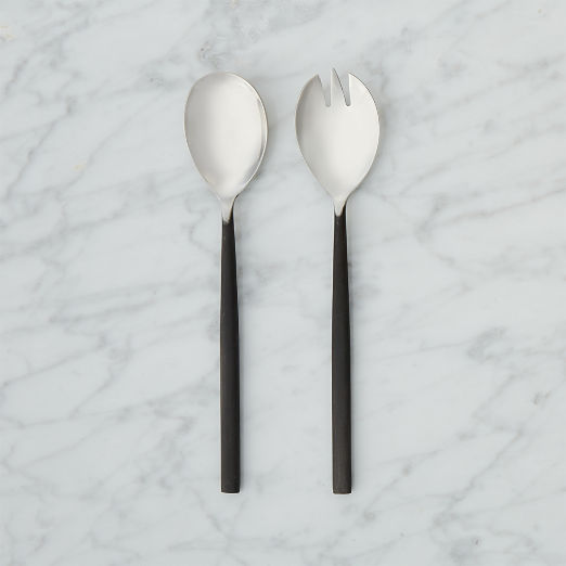 Rush Blackened Handle Serving Spoons
