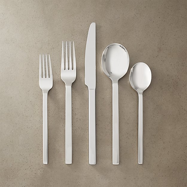 20-Piece Tower Shiny Silver Flatware Set - Image 1 of 2