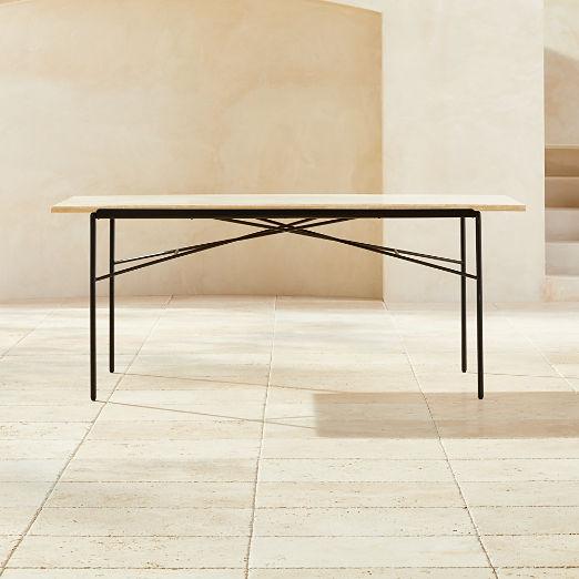 Pavilion Travertine Dining Table Model 6141
