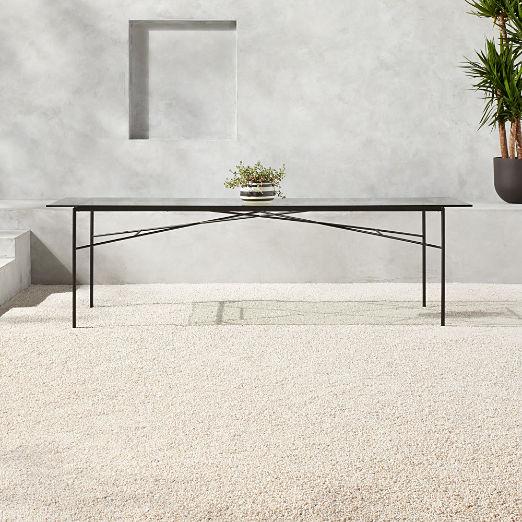 Large Pavilion Glass Dining Table Model 6142