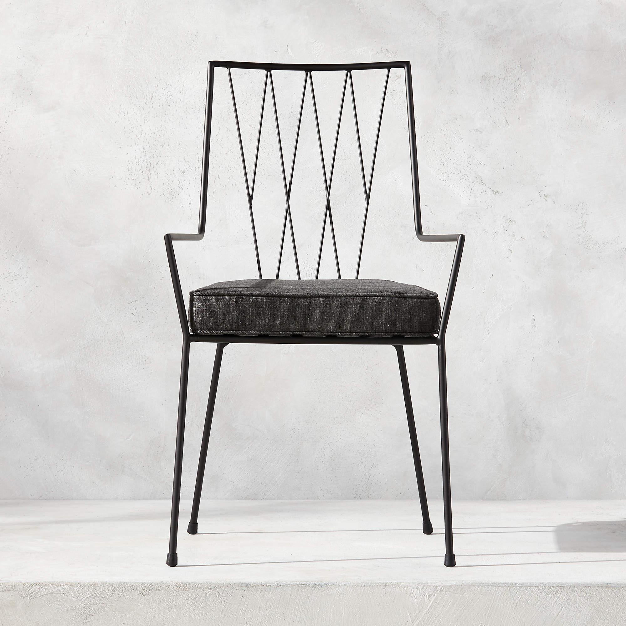 Pavilion Dining Chair with Grey Sunbrella ® Cushion Model 6160
