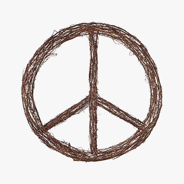 Peace Twig Wreath Reviews Cb2