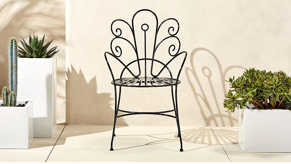 Black Peacock Chair + Reviews | CB2