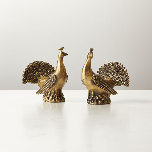 Peacock Salt and Pepper Shakers Set of 2