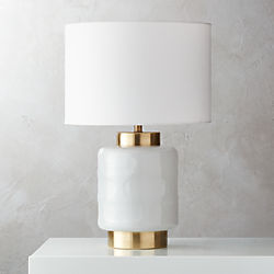Modern table lamps cb2 pebble milk glass table lamp aloadofball Images
