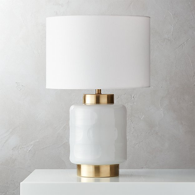 Pebble Glass Table Lamp Reviews Cb2