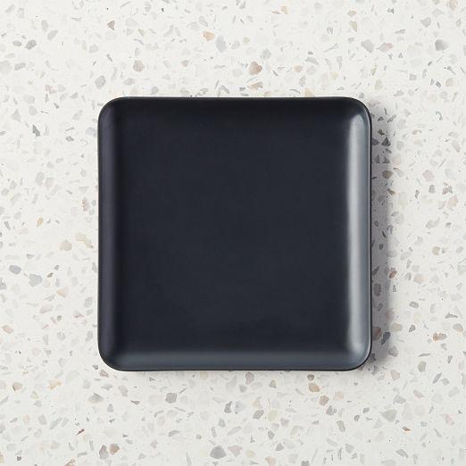 Pebble Matte Black Melamine Appetizer Plate