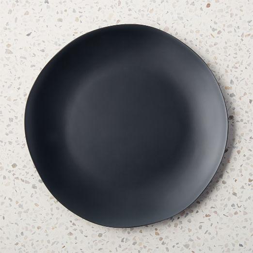 Pebble Matte Black Melamine Dinner Plate