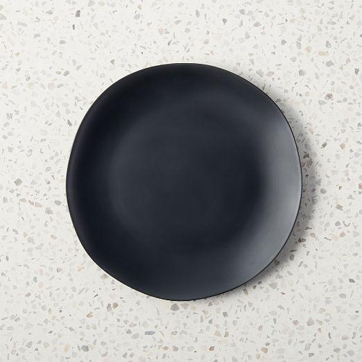 Pebble Matte Black Melamine Salad Plate