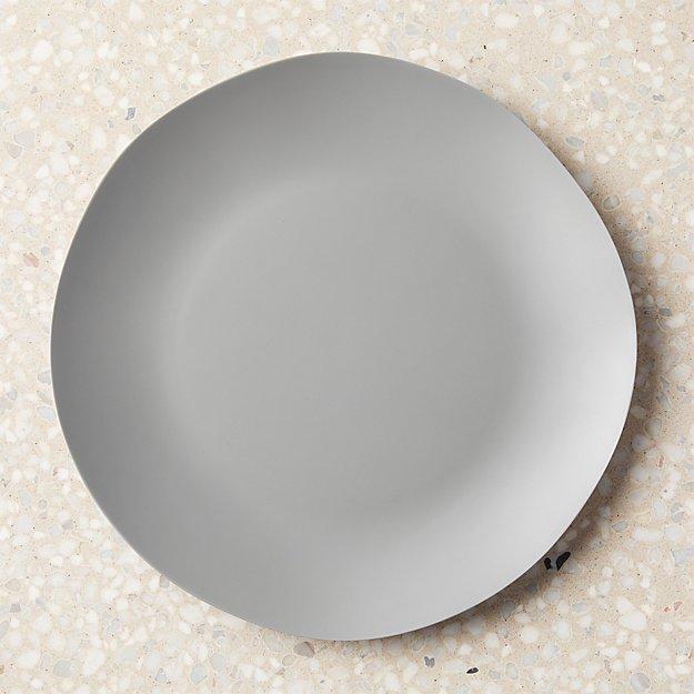 Pebble Matte Grey Melamine Dinner Plate - Image 1 of 11
