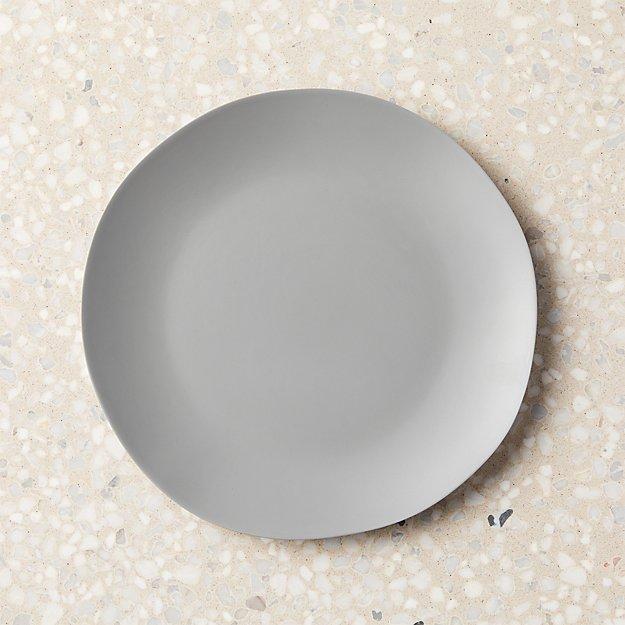 Pebble Matte Grey Melamine Salad Plate - Image 1 of 11
