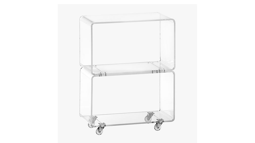 Peekaboo Acrylic Rolling Two Shelf – CB2