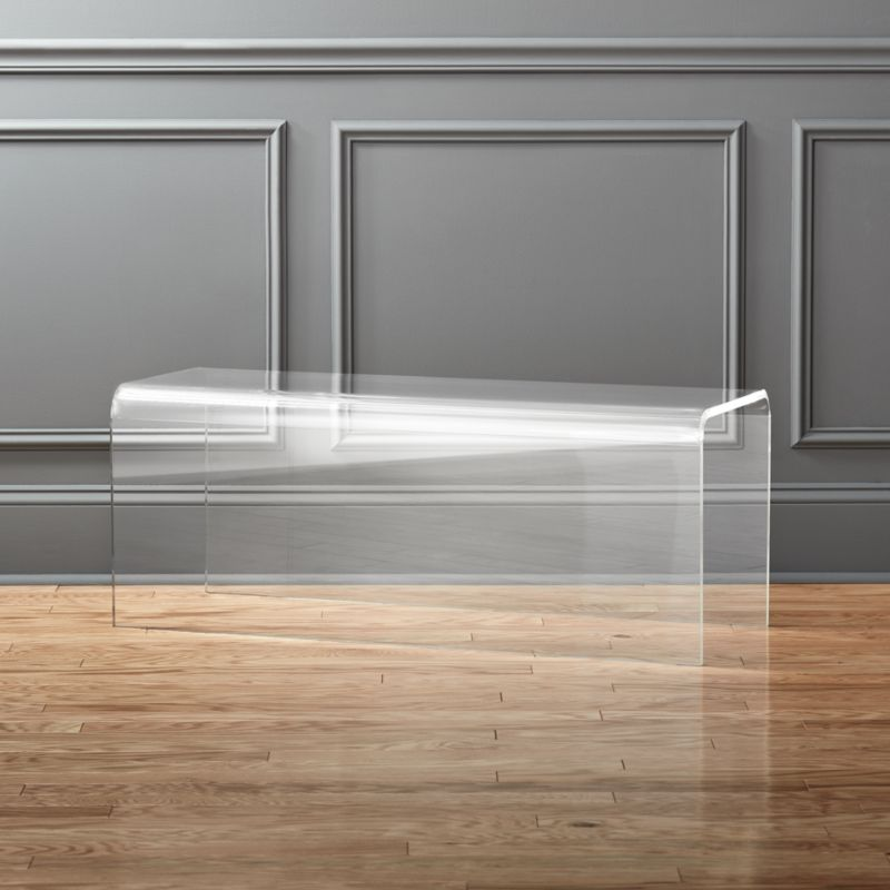Acrylic furniture Ghost Peekaboo Acrylic Bench Cb2 Acrylic Furniture Cb2