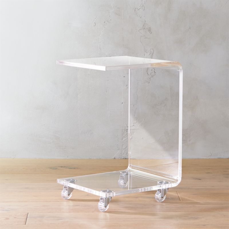 Peekaboo Acrylic C Table Reviews Cb2