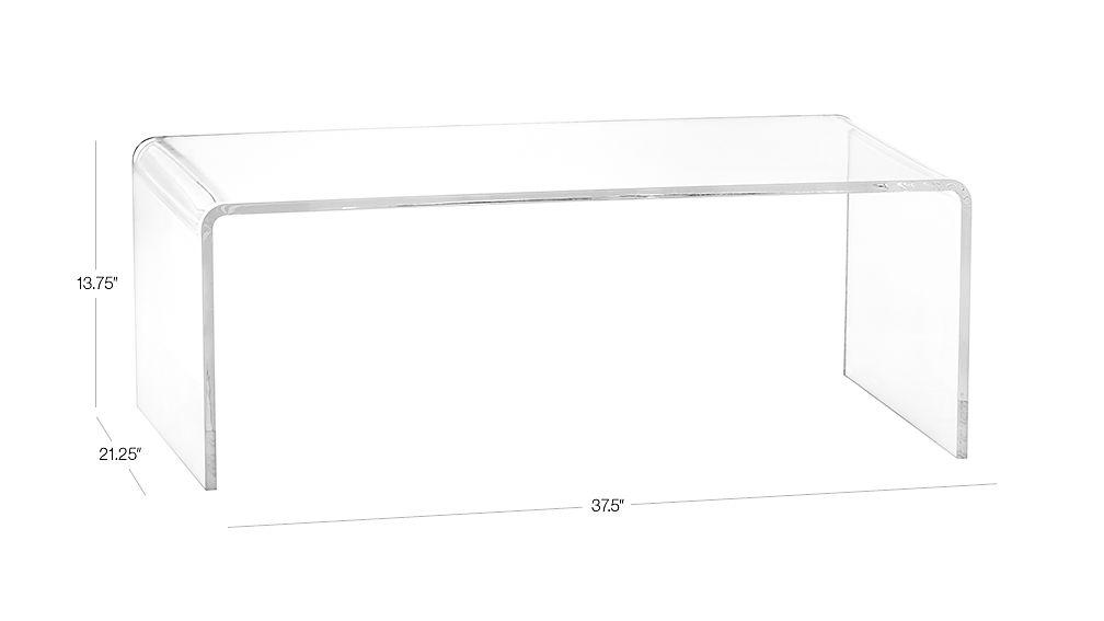 Image with dimension for peekaboo acrylic coffee table