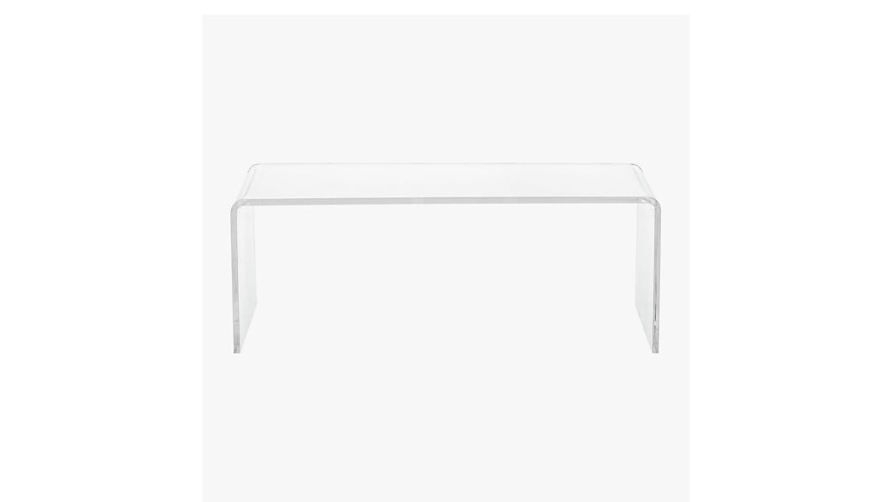 Peekaboo Acrylic Coffee Table Reviews CB - Cb2 clear coffee table