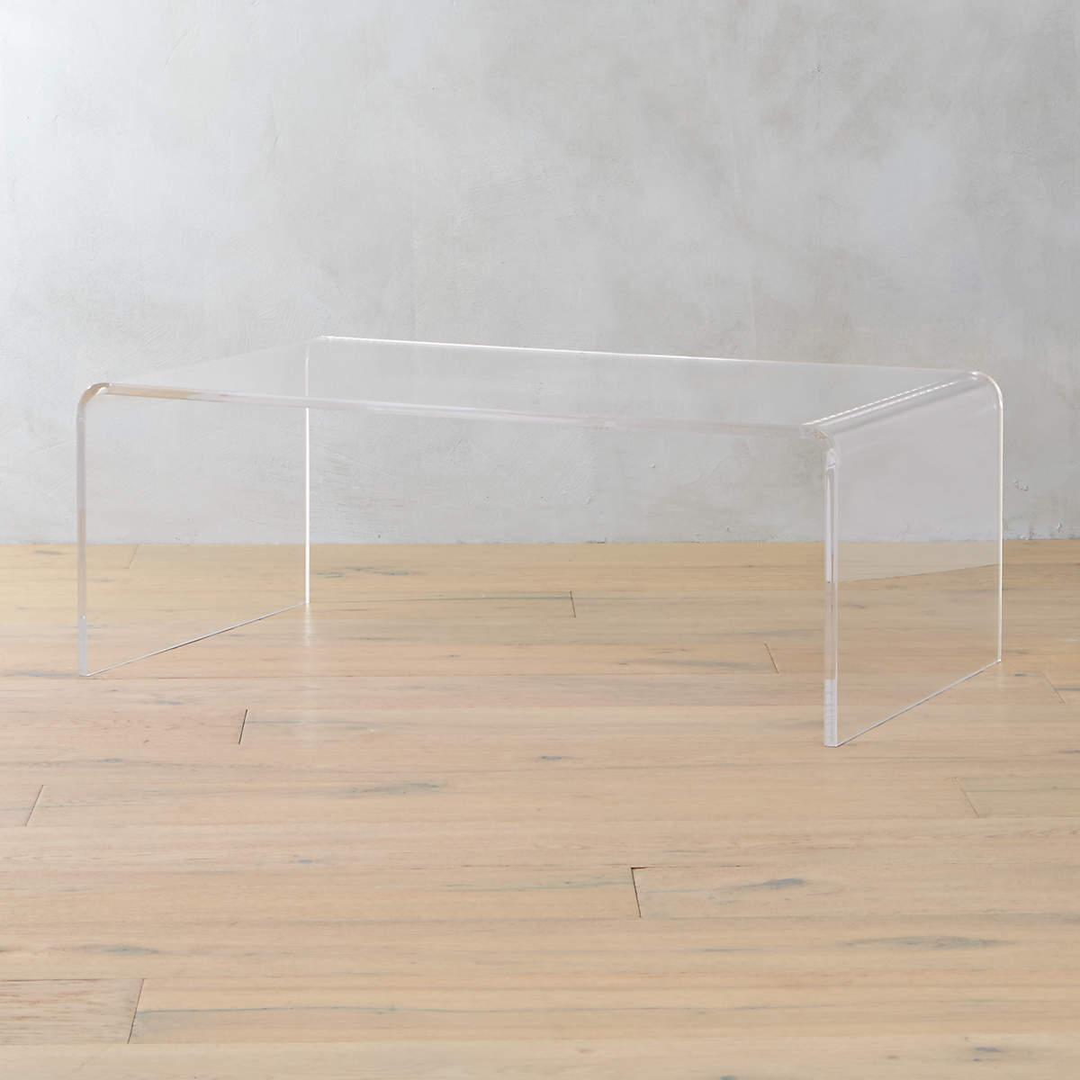 Peekaboo Acrylic Coffee Table- CB2
