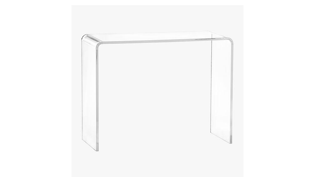 Peekaboo Tall Acrylic Table CB - Cb2 lucite table