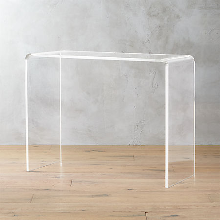 Incredible Peekaboo 38 Acrylic Console Table Gamerscity Chair Design For Home Gamerscityorg