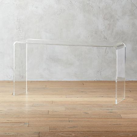 Marvelous Peekaboo 56 Acrylic Console Table Ibusinesslaw Wood Chair Design Ideas Ibusinesslaworg