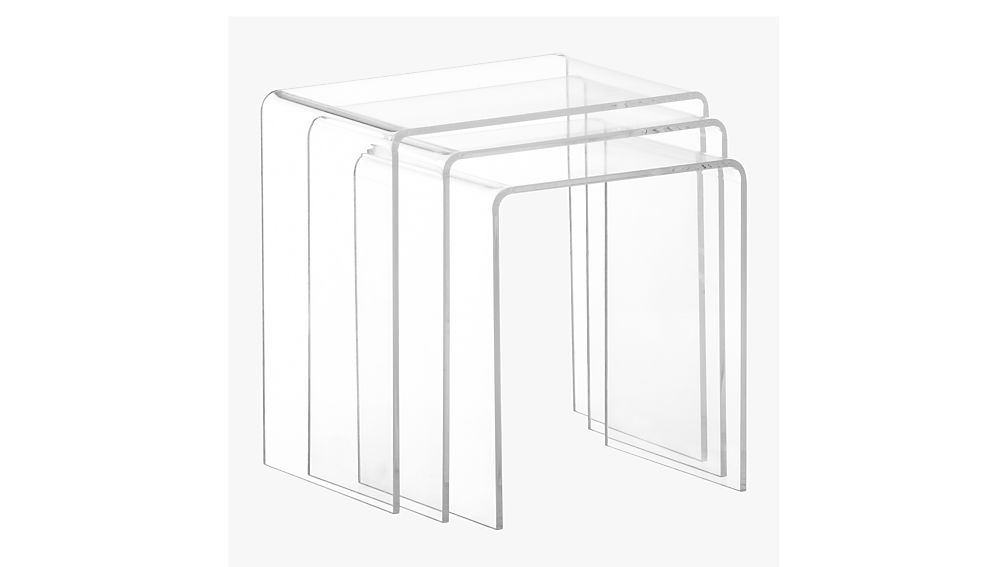 sc 1 st  CB2 & 3-piece peekaboo acrylic nesting table set + Reviews | CB2