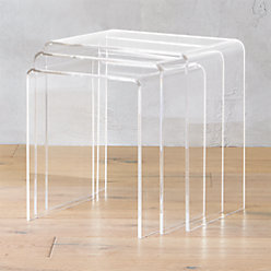 Peekaboo Acrylic Coffee Table Reviews CB - Cb2 peekaboo coffee table