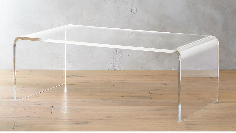 Peekaboo Acrylic Tall Coffee Table Reviews CB - Cb2 peekaboo coffee table