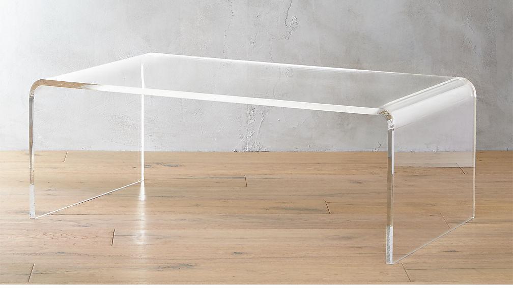 Peekaboo acrylic tall coffee table reviews cb2 - How tall is a coffee table ...