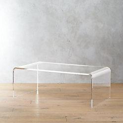 peekaboo acrylic tall coffee table Cb Peekaboo Clear Coffee Table