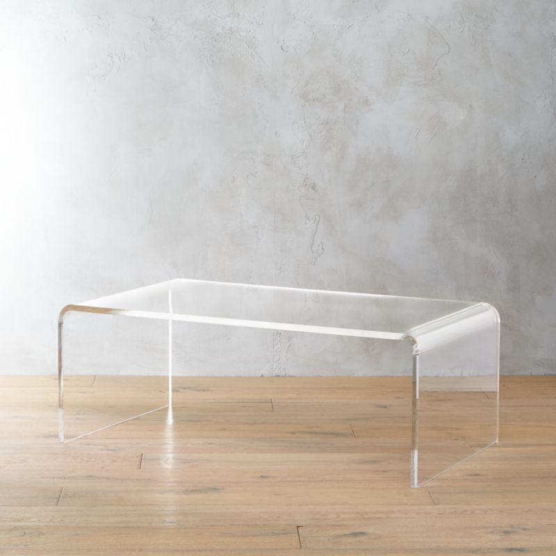 Captivating Peekaboo Acrylic Tall Coffee Table