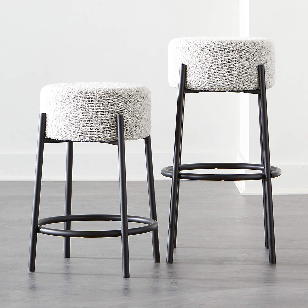 Peg Upholstered Bar Stools- image 1 of 2 (Open Larger View)