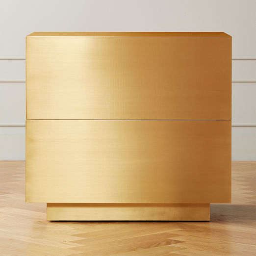 Penn Brass Clad Wide 2 Drawer File Cabinet