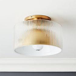 505f9f0bf6f7 Striae Ribbed Glass Flush Mount Light