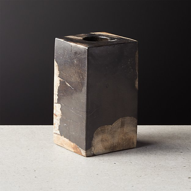 Petrified Wood Taper Candle Holder Small - Image 1 of 11