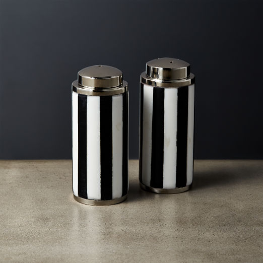 Petty Black and White Salt and Pepper Shaker Set
