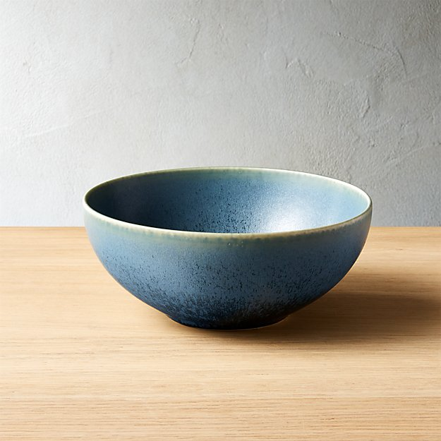 Phase Reactive Blue-Green Soup Bowl - Image 1 of 10
