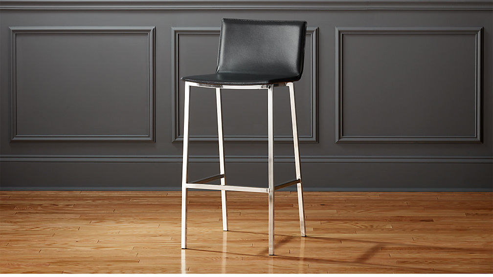 Phoenix Carbon Grey 30 Bar Stool Reviews Cb2