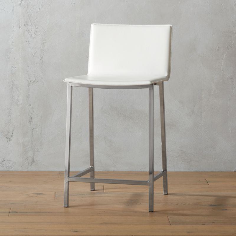 modern leather bar stools. Phoenix Ivory 30\ Modern Leather Bar Stools I