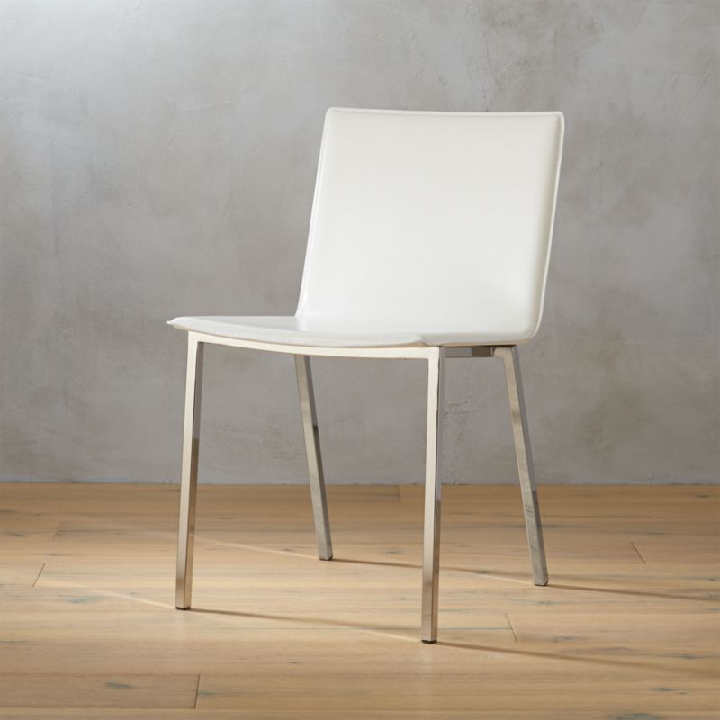 Merveilleux Phoenix Ivory Chair + Reviews | CB2