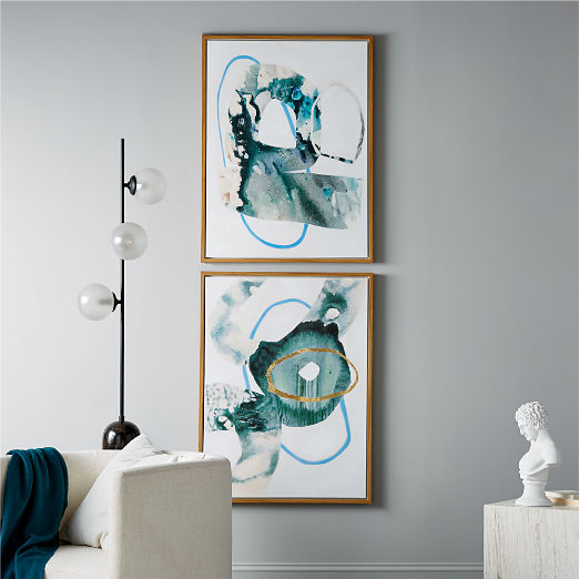Phthalo Painting Set of 2