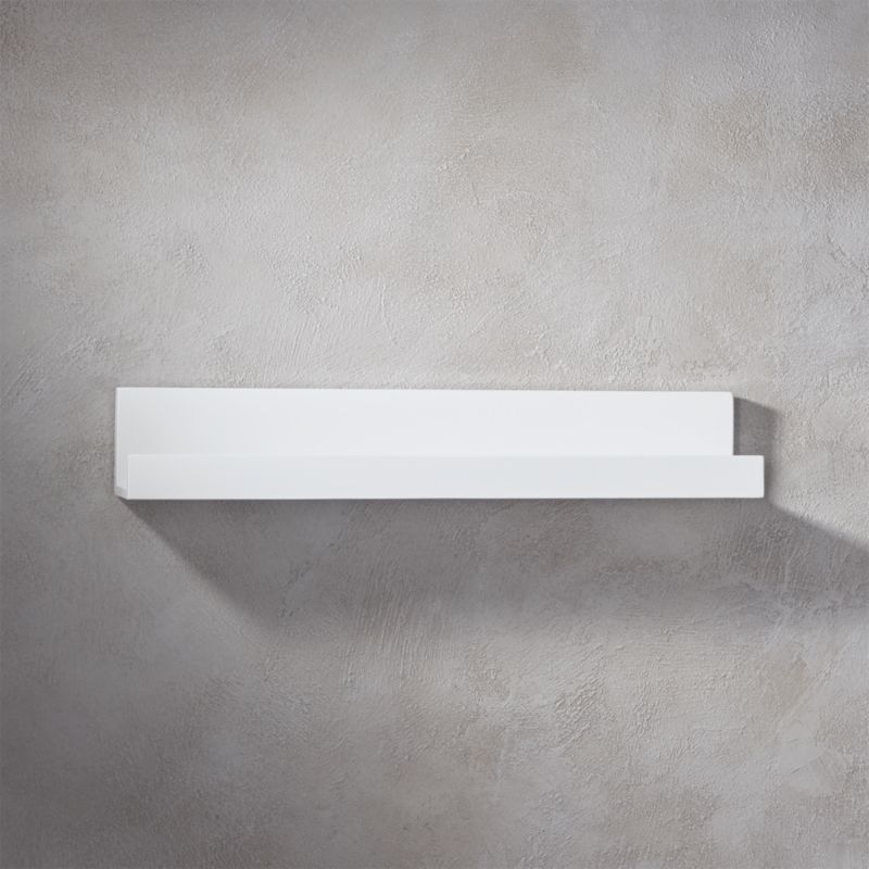 Piano White Wall Shelf 24