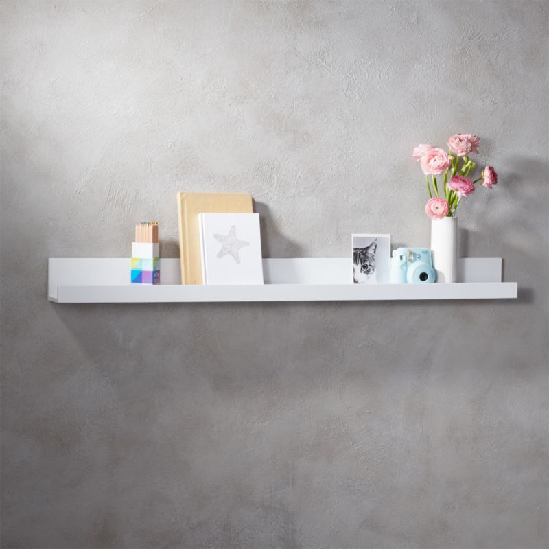 Piano White Wall Shelf 48