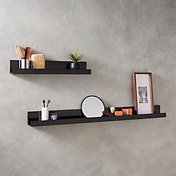 Piano Black Wall Shelves