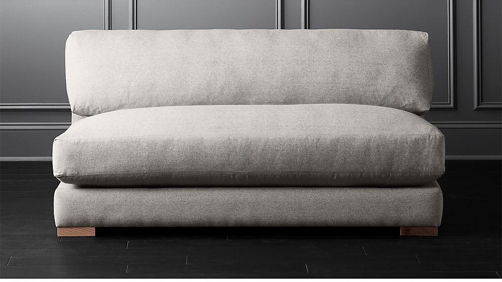 Piazza Steel Grey Apartment Sofa + Reviews   CB2
