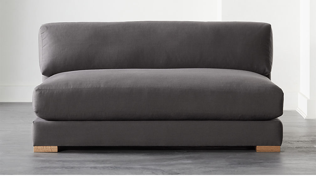 Piazza Dark Grey Apartment Sofa - Image 1 of 6