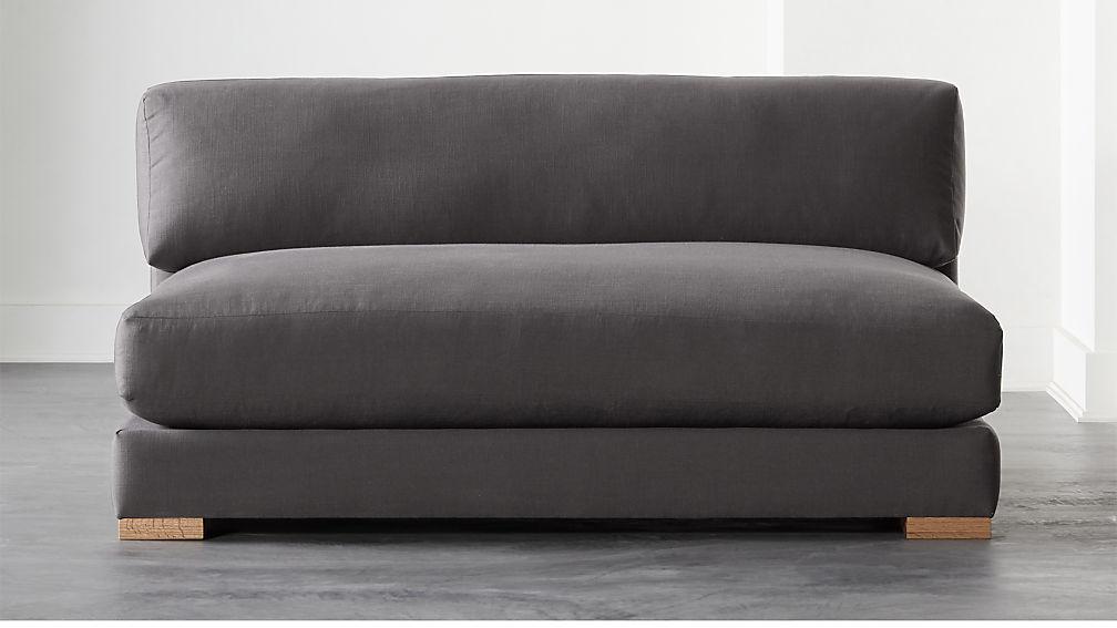 Piazza Dark Grey Apartment Sofa - Image 1 of 6