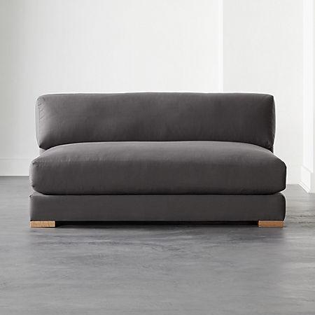 Piazza Dark Grey Apartment Sofa | CB2
